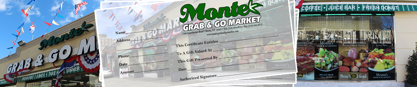 Grab and Go Gift Certificates Available