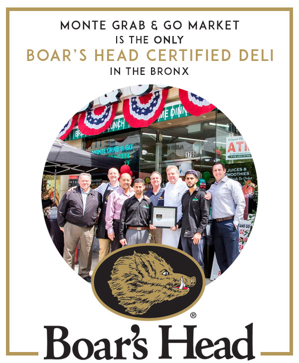the only Boars Head-certified deli in the Bronx